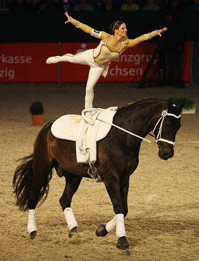 Thumbnail for Looser and Wiegele Take Inaugural FEI World Cup™ Vaulting Titles