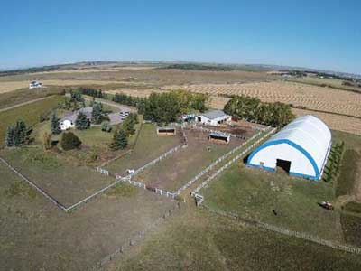 Thumbnail for $3,450,000 for a 20-acre ranch with river valley and mountain views in Springbank, AB