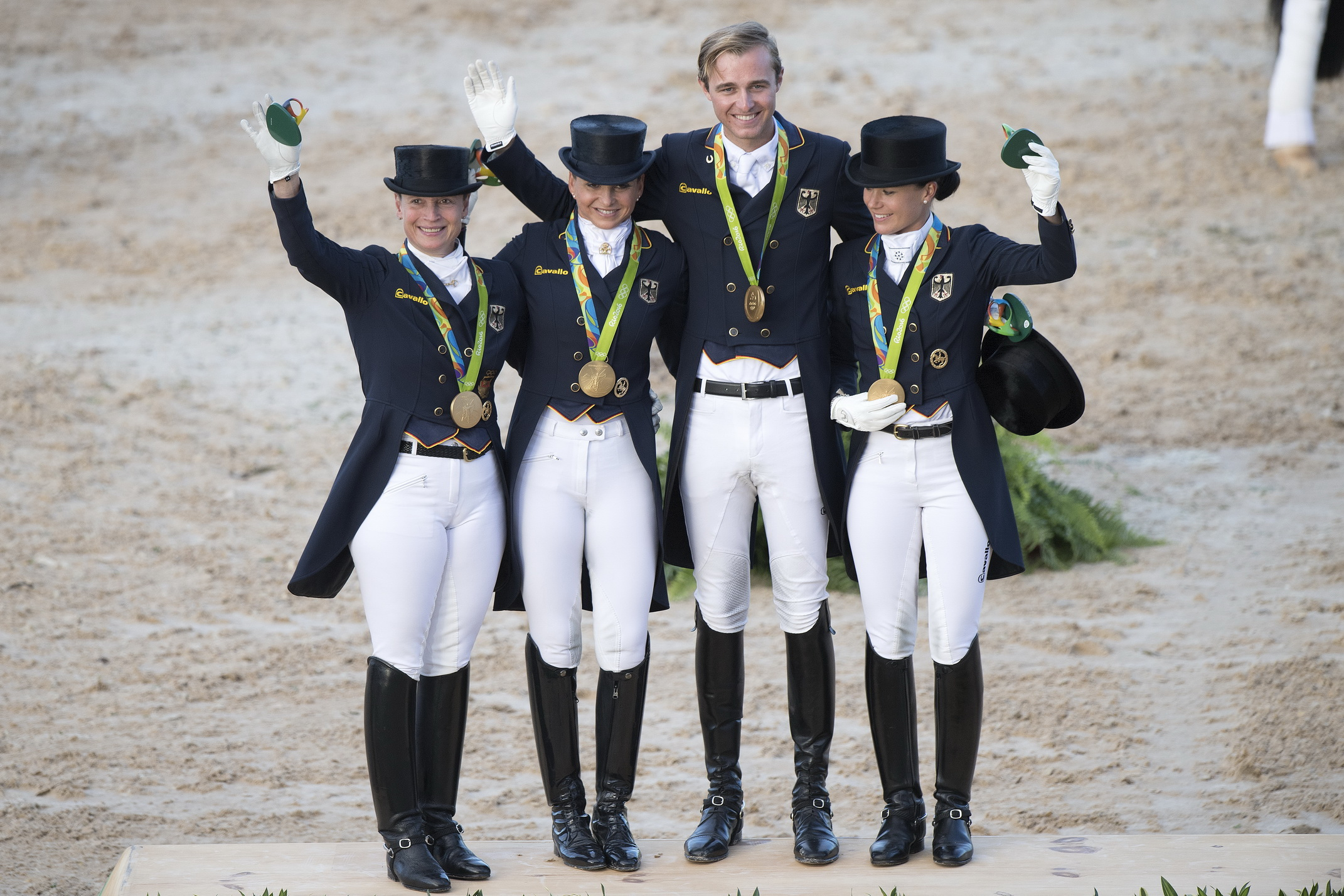 Thumbnail for Normal order restored as Germany takes Olympic Dressage team gold once again