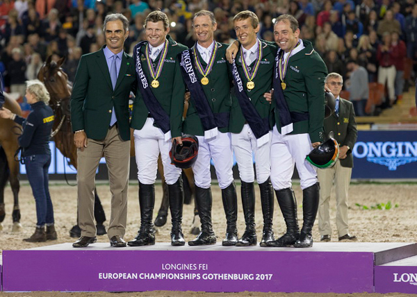 Thumbnail for Irish overcome the odds to win Jumping Team gold