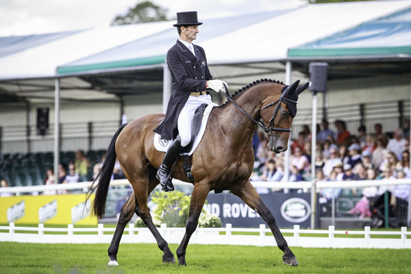Thumbnail for Legendary Todd and Leonidas II take over dressage lead at Burghley