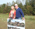 Mark and wife Katherine with their future vision for the hotel.