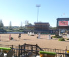 What is currently the main arena will become a dressage/para-dressage ring during WEG; a massive main ring is being constructed where the grass derby field is now located.