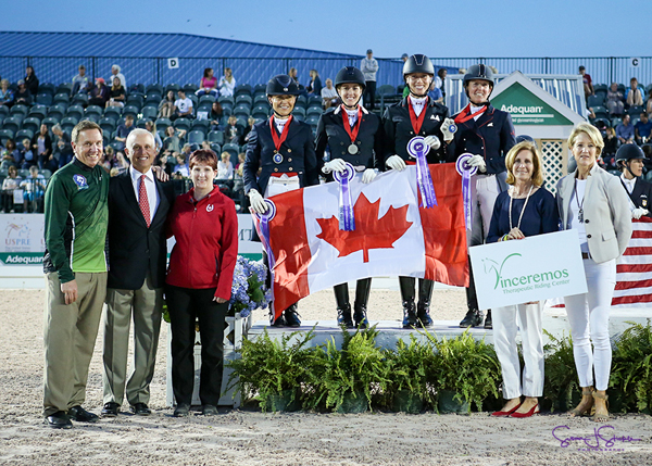 Thumbnail for Canadian Dressage Team Takes Silver at 2018 CDIO 3* Wellington Nations Cup