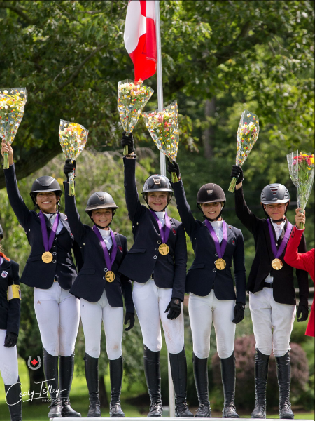 Thumbnail for Canada strikes gold in Children's Team Jumping Competition at NAYC