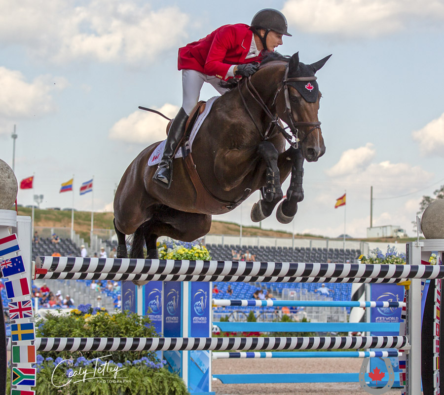 Thumbnail for 10th-place finish for Canadian Show Jumping Team at WEG