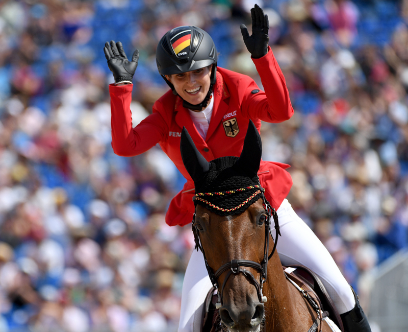 Thumbnail for Germany's Blum is golden while making jumping history at WEG