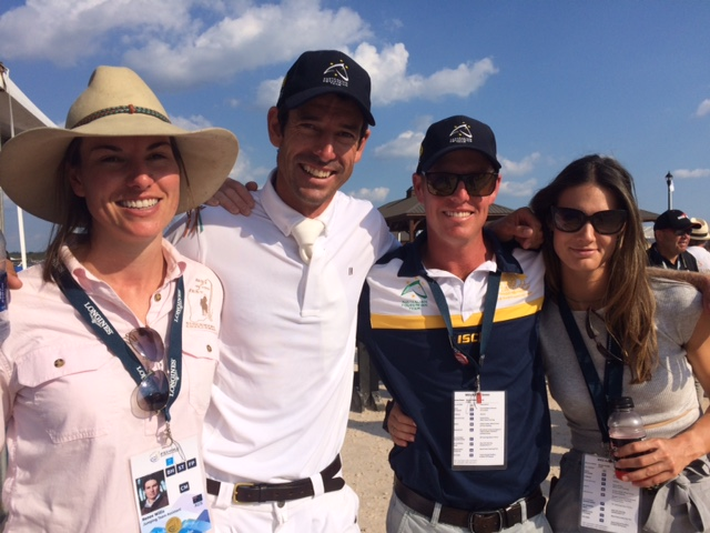 """The Aussies were """"over the moon """" at making the top 10. Pictured here with Rowan Willis is his sister Renee, left, chef d'équipe Todd Hind, and Rowan's partner Aline Domaingo."""