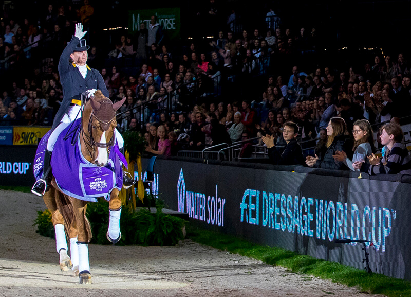 Thumbnail for Isabell Werth breezes to victory with Bella Rose in Stuttgart