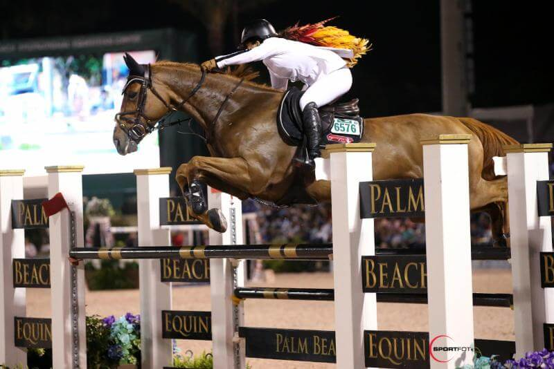 Thumbnail for Danielle Goldstein and Lizziemary Top $391,000 Grand Prix CSI5* at WEF