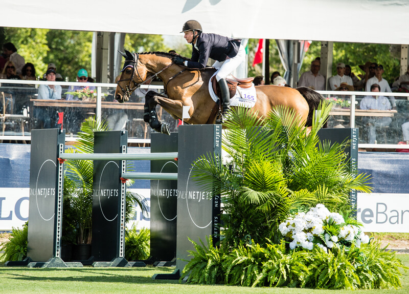 Thumbnail for Mario Deslauriers second in $208,200 Longines FEI Jumping World Cup