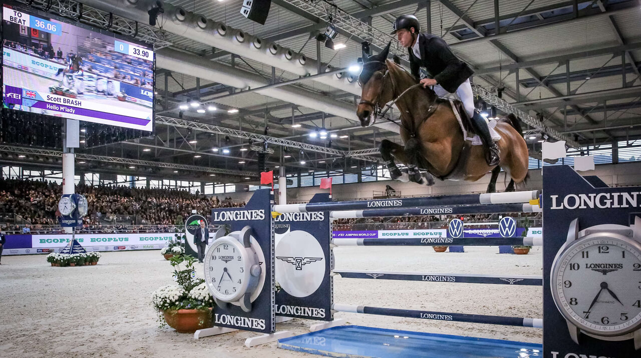 Britain's Scott Brash and Hello M'Lady victorious in Verona