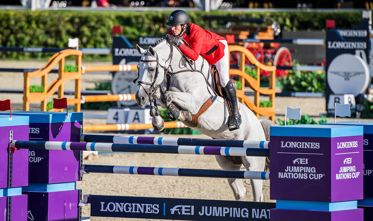 Thumbnail for Team Belgium tops first round at Longines FEI Jumping Nations Cup Final