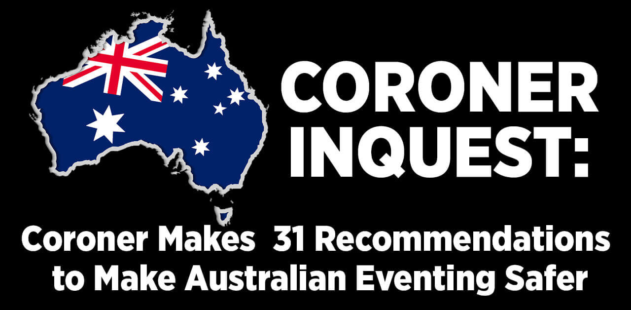 Coroner's 31 Recommendations to Make Australian Eventing Safer