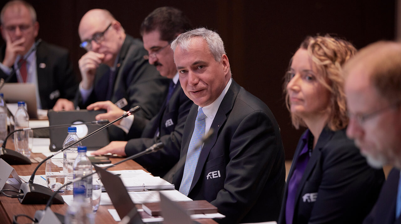 Main decisions from in-person Board meeting at FEI General Assembly