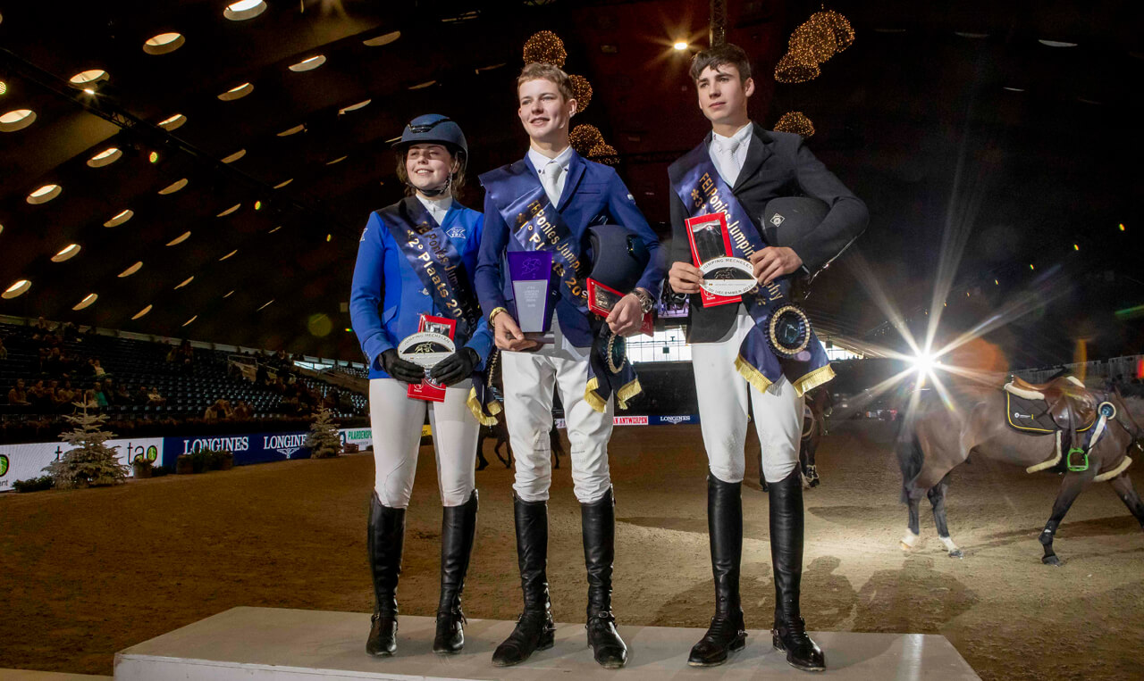 Thumbnail for Rhys Williams tops all-Irish podium in FEI Jumping Ponies Final