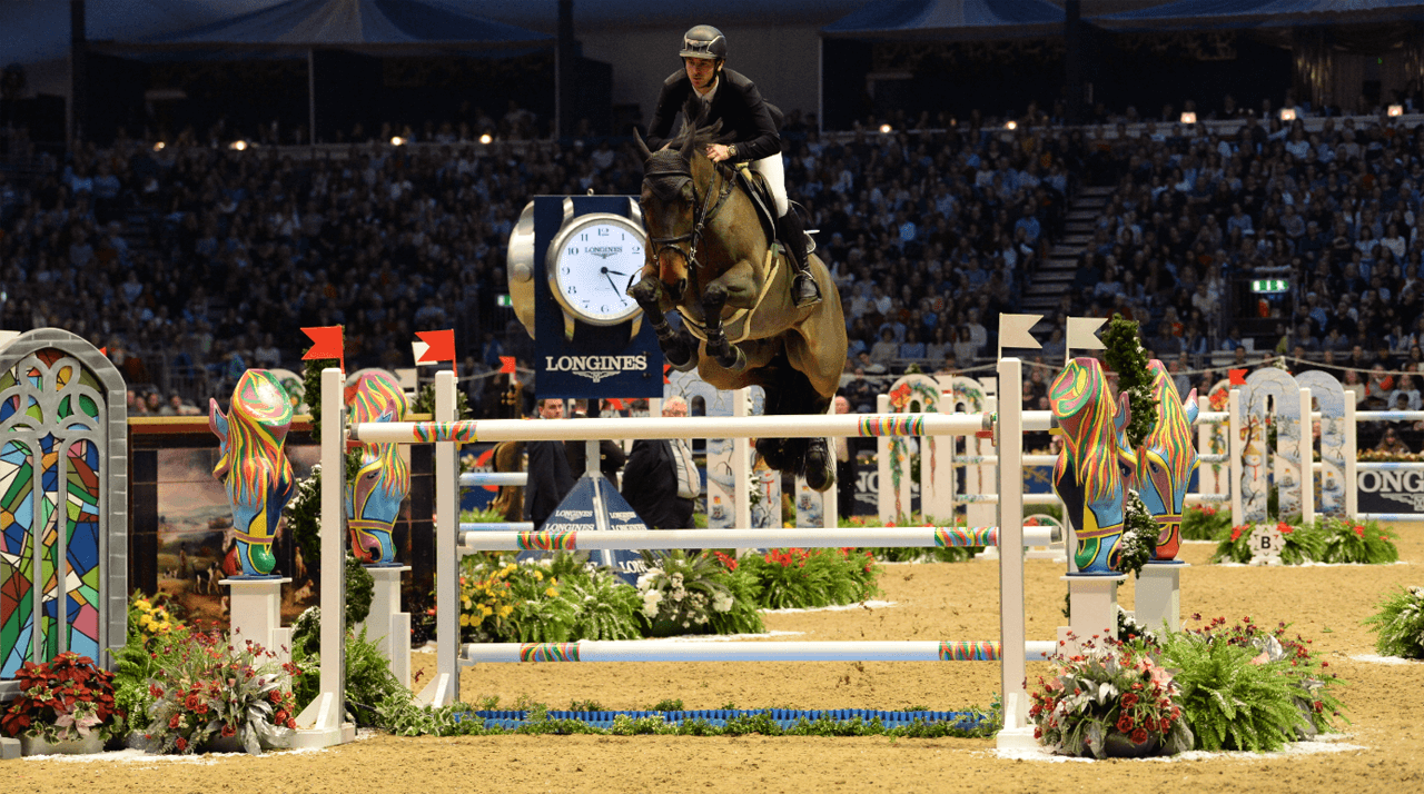 Thumbnail for Seven of the world's top ten show jumpers head to Olympia