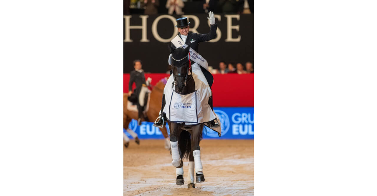 Thumbnail for Schneider and 'cheeky Sammy' top Madrid Dressage World Cup leg