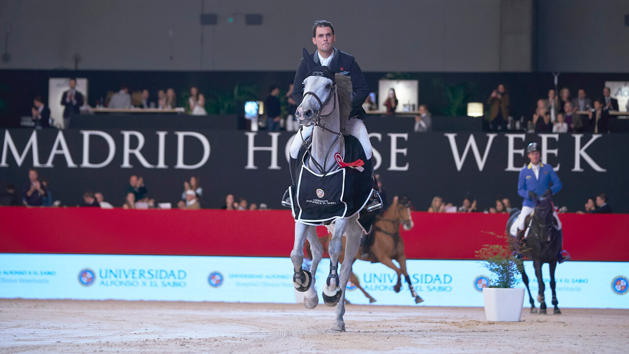 Thumbnail for Spanish jumping riders triumph on Day 2 of Madrid Horse Week