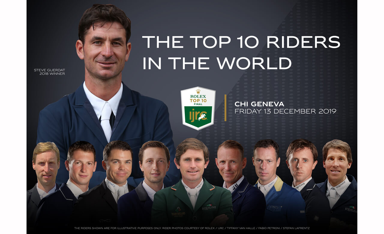 World's top riders head to CHI Geneva for Rolex IJRC Top 10 Final