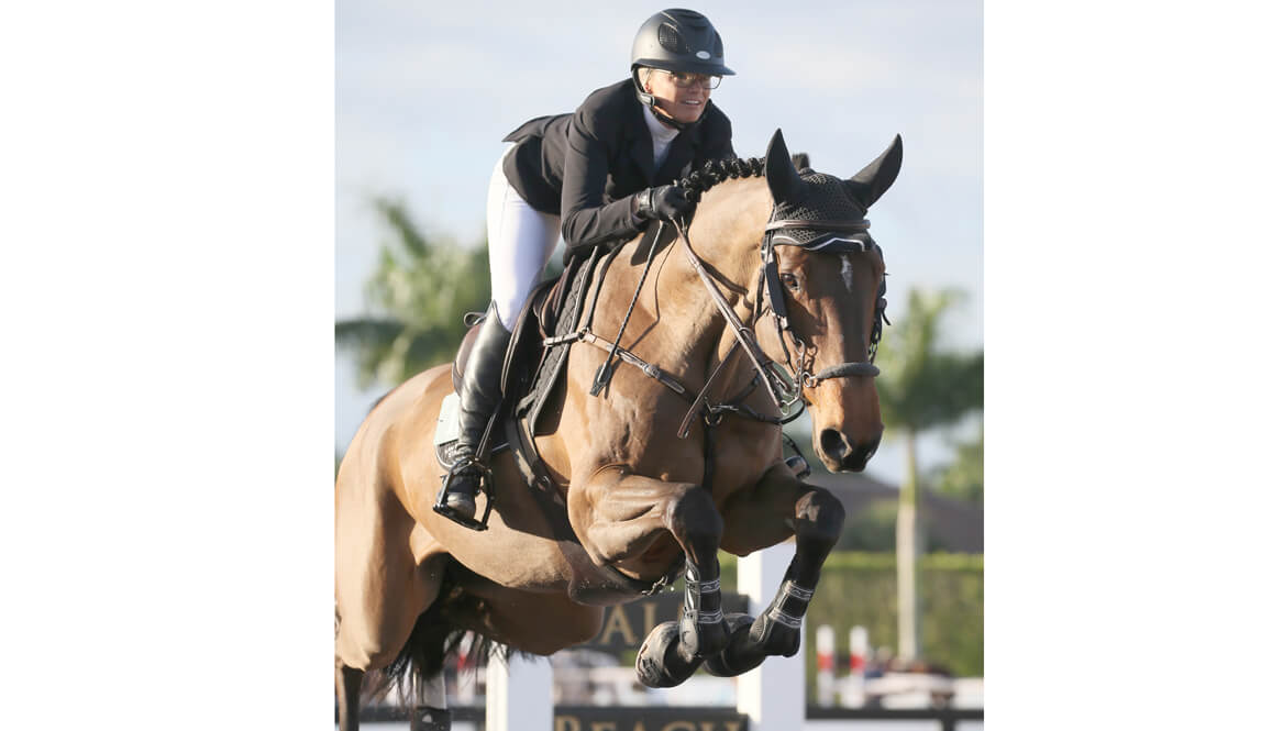 Thumbnail for Erynn Ballard wins 7-Year-Old Jumper with Hathina Z at WEF