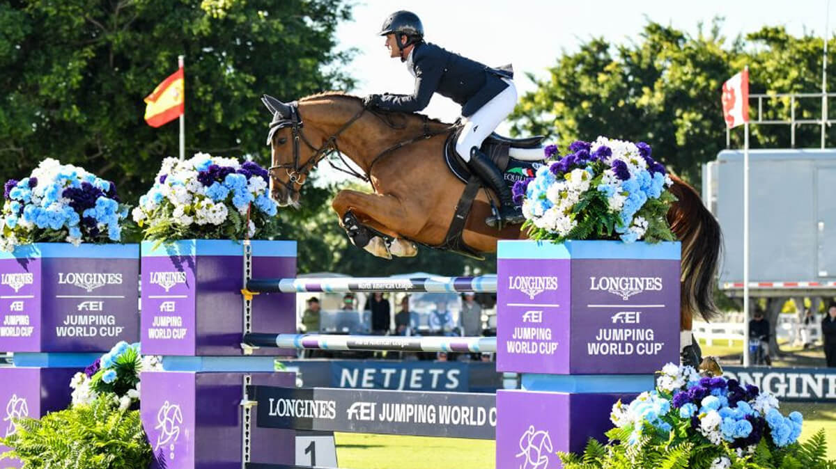 Thumbnail for Darragh Kenny and Classic Dream win $213,300 World Cup Wellington