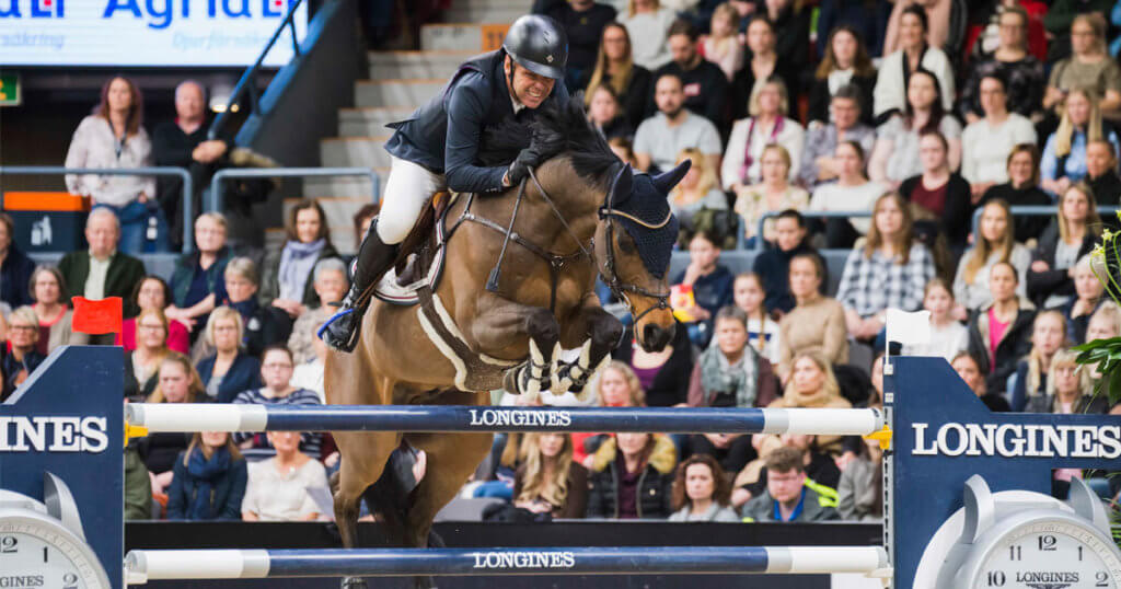 Norway's Geir Gulliksen posted the first World Cup victory of his long and successful career in the thrilling 14th and last qualifier of the Longines FEI Jumping World Cup™ 2019/2020 Western European League (WEL) in Gothenburg, Sweden, riding the brave little VDL Groep Quatro. (FEI/Satu Pirinen)