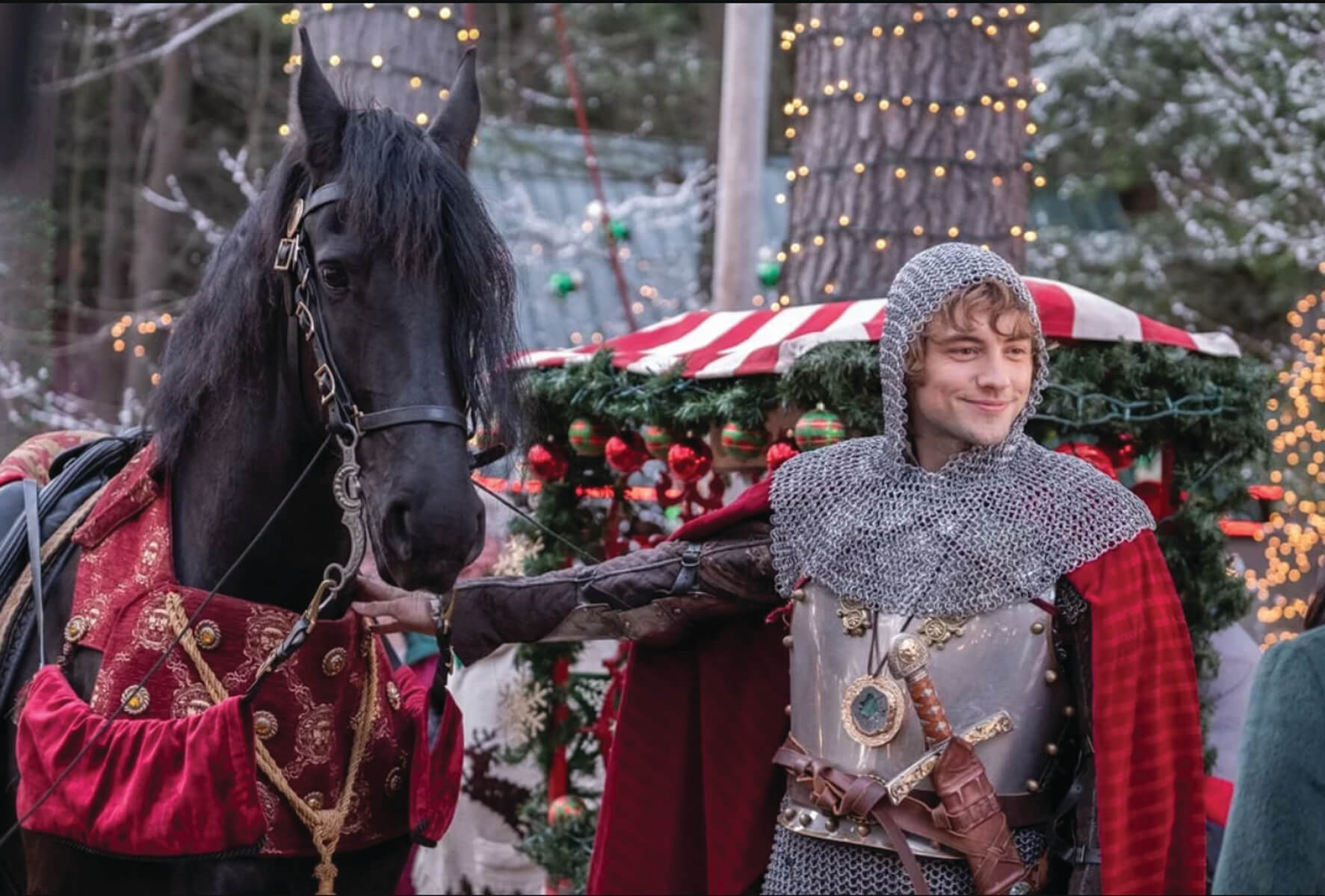 Josh Whitehouse as Sir Cole in The Knight Before Christmas – Copyright. Motion Picture Corporation of America