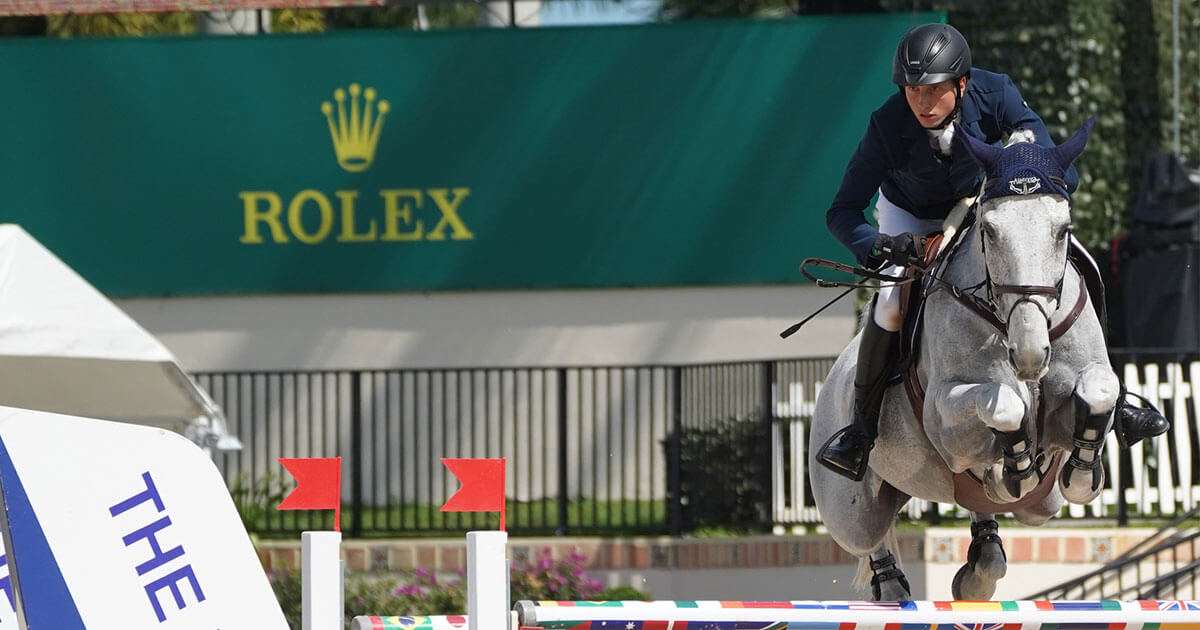 Thumbnail for World #2 Martin Fuchs takes $137,000 WEF Challenge Cup Round 7