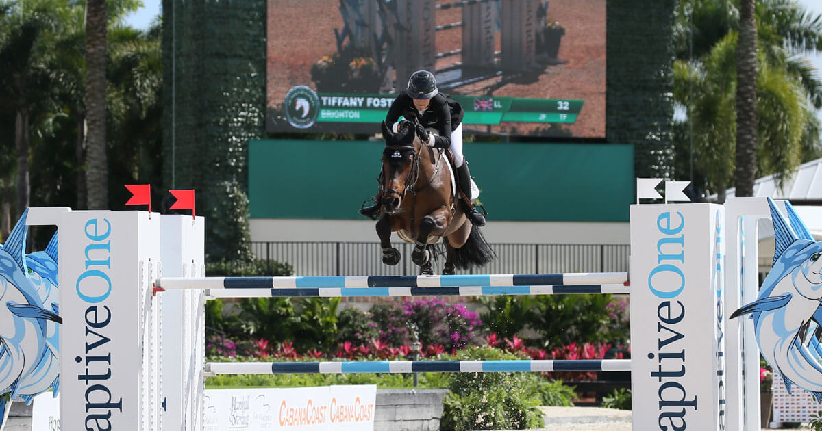 Thumbnail for Tiffany Foster Captures CaptiveOne Advisors 1.50m Classic at WEF