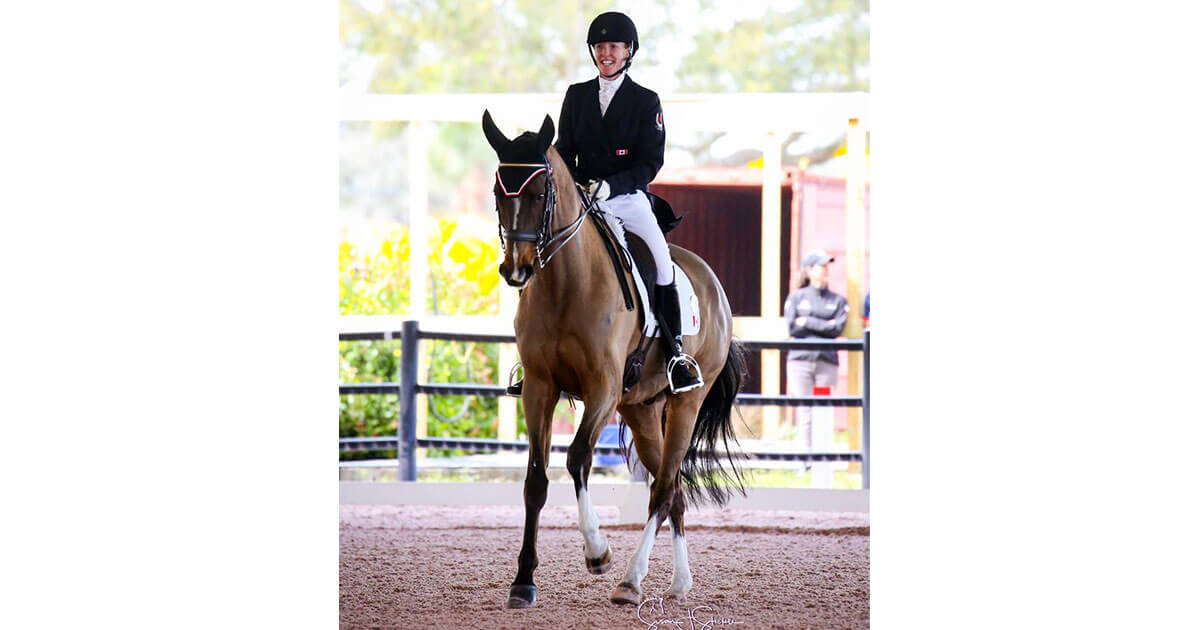 Thumbnail for Selena and Woody 3rd after dressage at MARS Eventing Showcase
