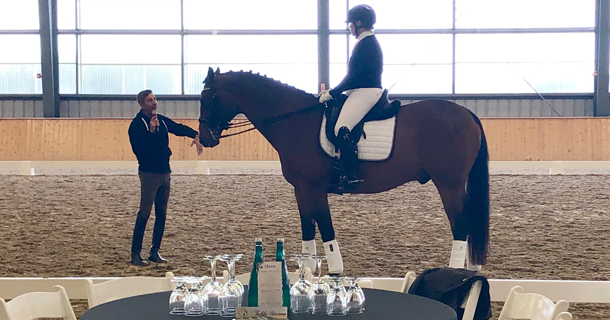 Robert Dover imparting his wisdom at his clinic in Caledon. (Alison King photo)