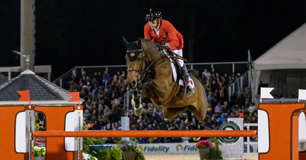 Thumbnail for Canadian show jumpers tie for 4th in WEF Nations Cup
