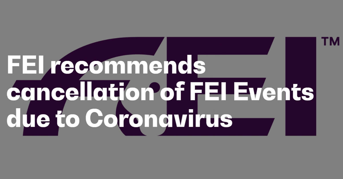 Thumbnail for COVID-19 pandemic prompts FEI to recommends cancellations