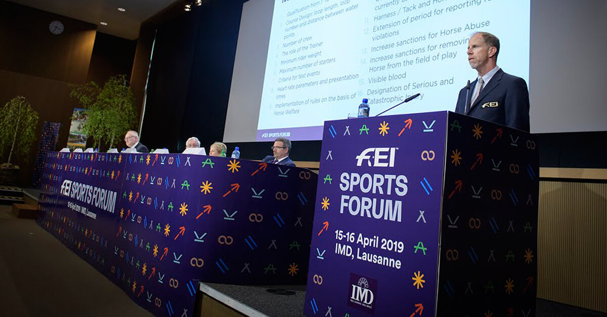 Thumbnail for COVID-19 fears see FEI Sports Forum moved online