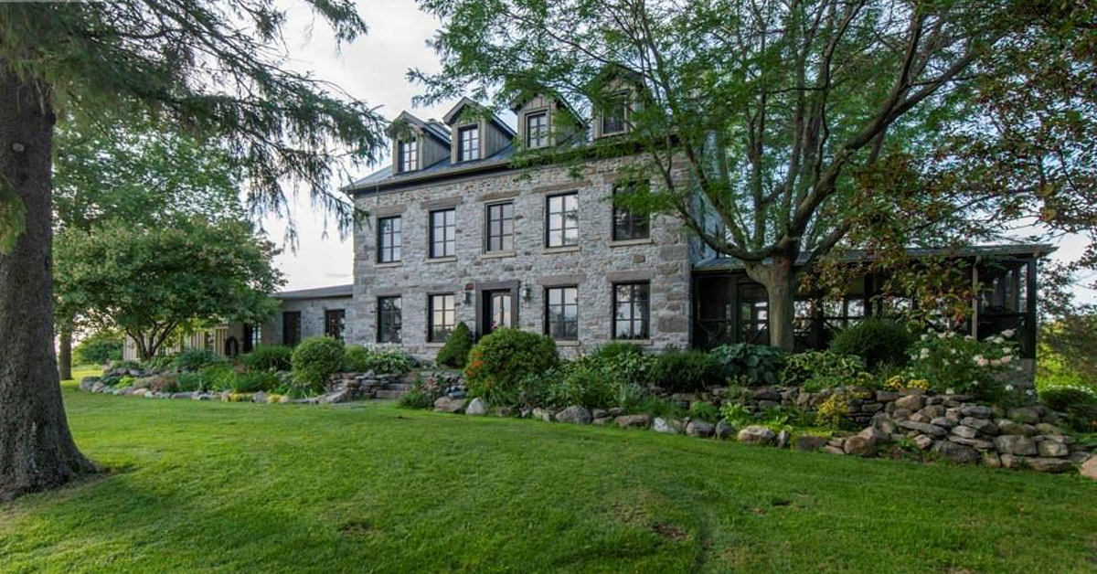 "Thumbnail for $1,975,000 for the ""Stone House on the Hill"" in Vankleek Hill, ON"