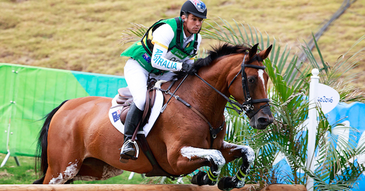 The Irish Sport Horse Paulank Brockagh ridden by Sam Griffiths at the Rio 2016 Olympic Games where they finished fourth individually and helped secure eventing team bronze for Australia. (Photo: Libby Law)