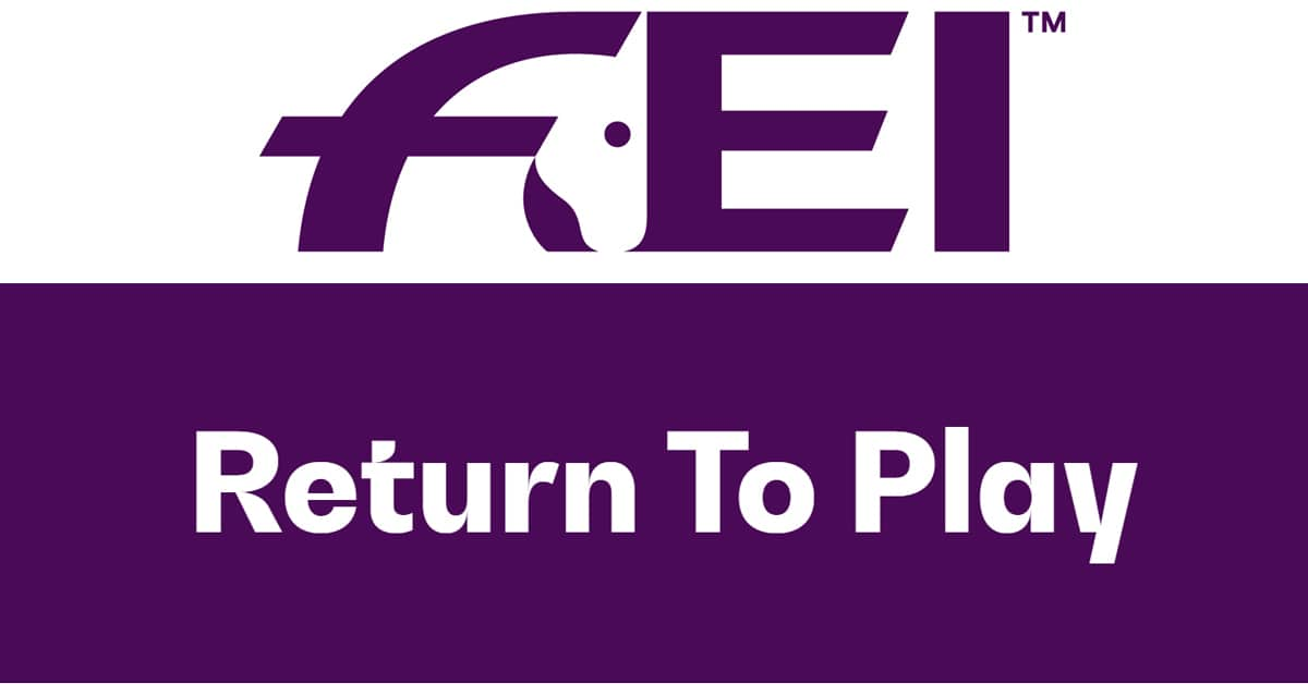 "Thumbnail for The ""new normal"" return-to-play policy published by FEI"