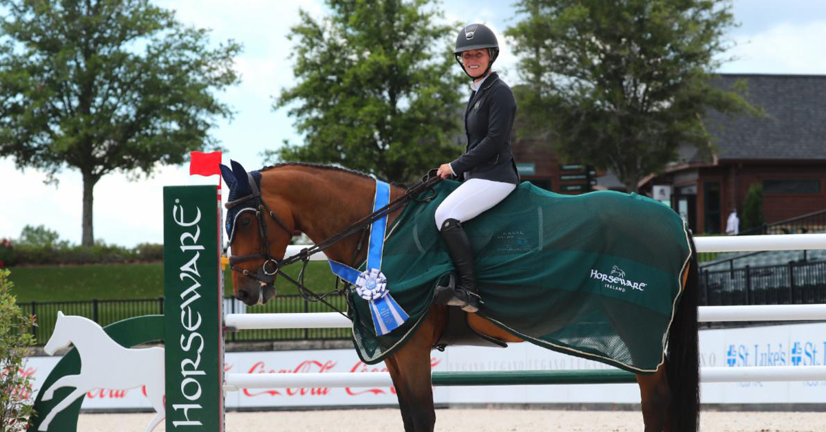 Thumbnail for Derbyshire and Luibanta BH Top Horseware Ireland Welcome Stake