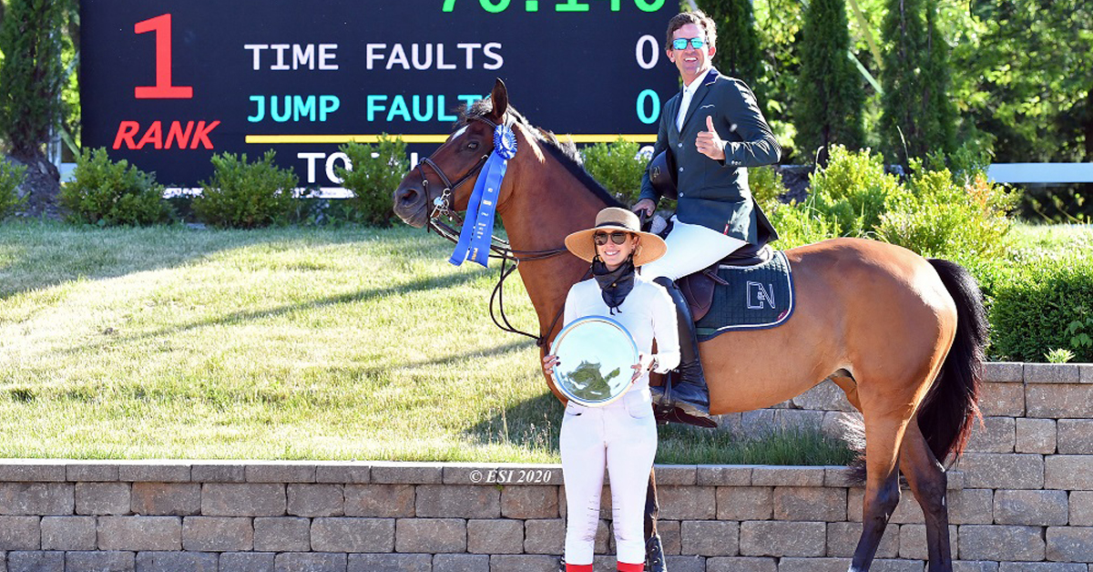 Thumbnail for Charlie Jayne Grabs Grand Prix Win at HITS Chicago Spring Spectacular II