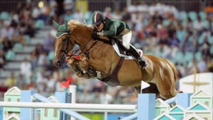 Kevin Babington and Carling King at the Olympic Games in Athens 2004. (Photo © Hippo Foto)