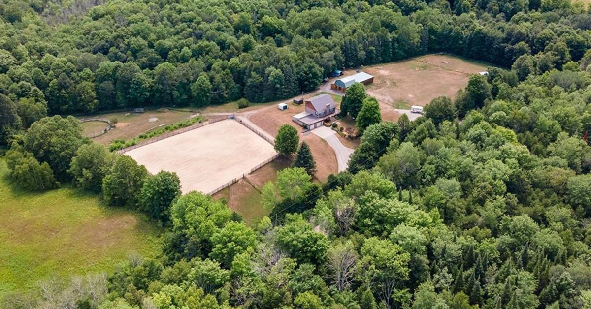 Thumbnail for $569,900 for 20 acres with unique custom-built home and barn in Thomasburg, ON