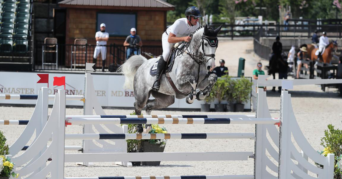 Thumbnail for Hardin Towell and Billy Manjaro win Sunday Jumper Classic at Tryon