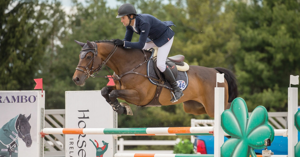 James Chawke competing at Caledon Equestrian Park in 2019 (Ben Radvanyi photo)