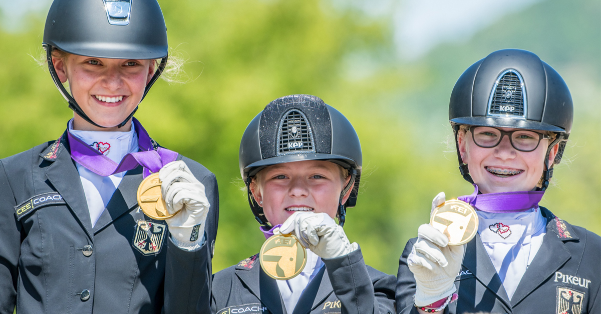 Thumbnail for Clean Sweep of Gold, Plenty of Drama at Euro Dressage Youth Champs