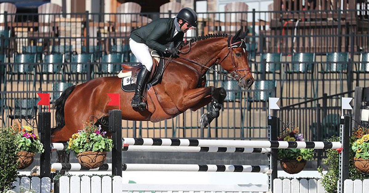 Thumbnail for Lorcan Gallagher and Sangris Boy Win $25,000 Marshall & Sterling Insurance Grand Prix