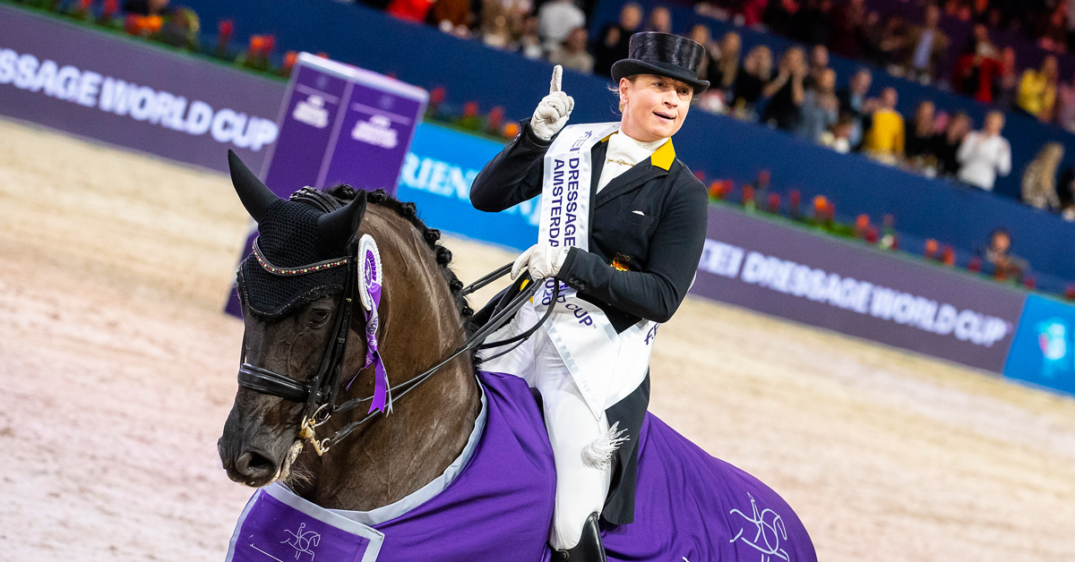 Isabell Werth (GER), one of the more high-profile top hat petition signers. (FEI/Leanjo de Koster)