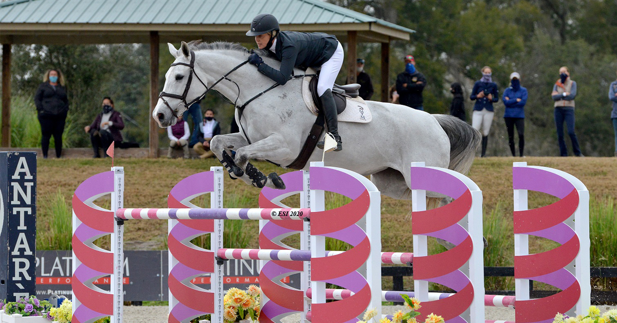 Thumbnail for Tracy Fenney Takes Top Honors in $25,000 HITS Grand Prix