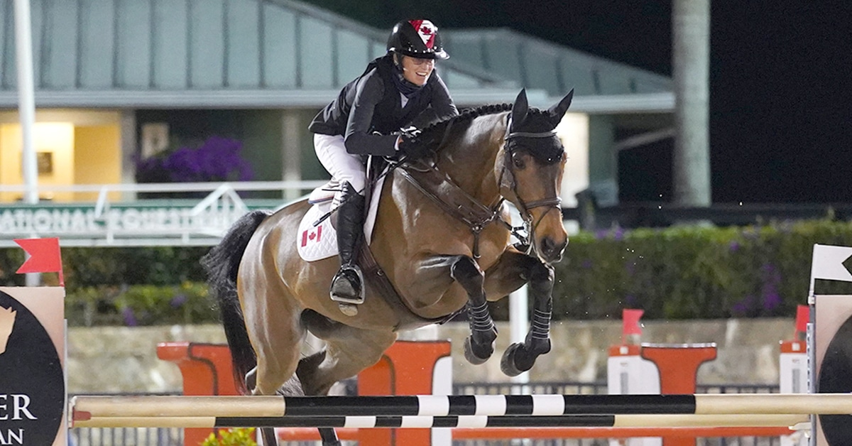 Thumbnail for Amy Millar and Christiano Top $5,000 Welcome Stake CSIO4* at WEF