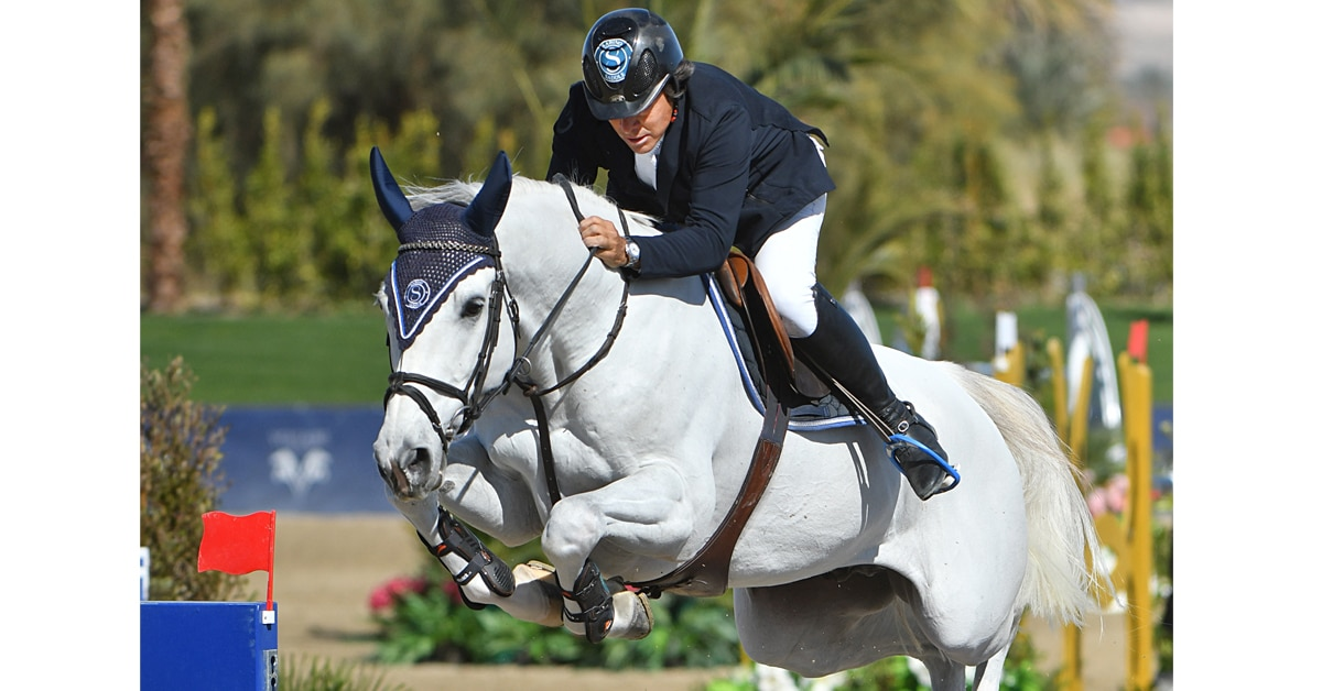 Thumbnail for Luis Sabino Gonçalves Wins $137,000 1.55m CSI3* at DIHP